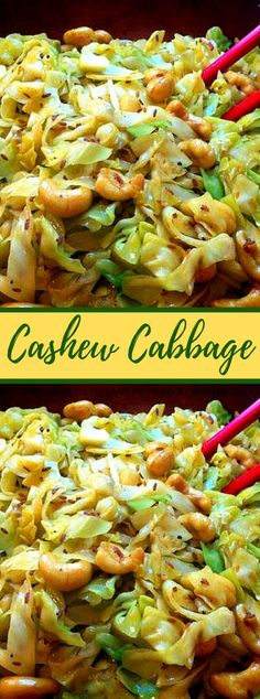 Cashew Cabbage - Yemek Tarifleri - Resimli ve Videolu Yemek Tarifleri Fried Cabbage Recipes, Vegetable Recipes, Vegetarian Recipes, Healthy Recipes, Best Cabbage Recipe, Cashew Recipes, Cabbage Salad Recipes, Lunch Recipes, Iftar