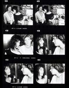 """""""Contact sheet from shoot with Patti Smith and Robert Robert Mapplethorpe"""", by Norman Seeff, 1969"""