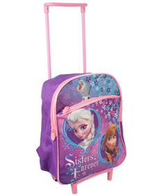 63db07ccbe8 Roll out Frozen style with this kid-sized rolling backpack!