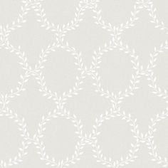 Wallpaper Wilma grey is a classic and extremely popular pattern, which makes the wall appear covered in laurel wreaths. Here with a white leaf pattern on pale grey. Swedish Wallpaper, Victorian Wallpaper, Classic Wallpaper, Grey Wallpaper, Butterfly Wallpaper, Home Wallpaper, Pattern Wallpaper, Sandberg Wallpaper, Picture Arrangements