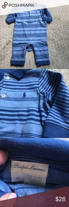 Polo Ralph Lauren soft jersey knit one piece SZ 6M Polo Ralph Lauren soft jersey knit one piece SZ 6M Polo by Ralph Lauren One Pieces