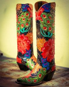 Tired of having the same boots as everyone else? Take a look at Rocketbuster Boots. They are entirely custom, hand-made, works of art. Custom Cowboy Boots, Cowgirl Boots, Western Boots, Western Wear, Riding Boots, Baby Boots, Kids Boots, Baby Girl Shoes, Buy Shoes