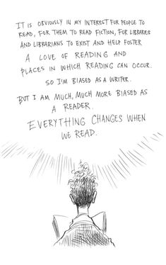 Page three of Neil Gaiman and Chris Riddell's book Art Matters. ART MATTERS by Neil Gaiman, illustrated by Chris Riddell is published by Headline on September Reading Quotes, Book Quotes, Reading Art, Quotes Quotes, Library Quotes, Library Ideas, Good Books, Books To Read, Children's Books