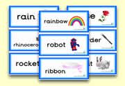 'r' themed flashcards