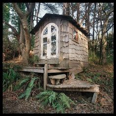 Meditation hut, Druid Heights, Marin county, CA. Druid Heights was founded by Elsa Gidlow