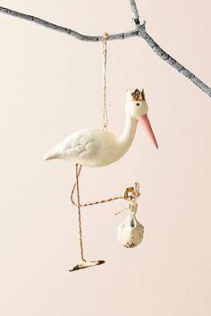 Stork Ornament - Anthropologie.