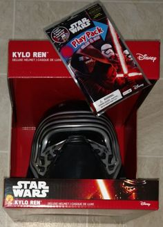 Kylo Ren Helmet Star Wars Force Awakens + Coloring Book Play Pack with Stickers!