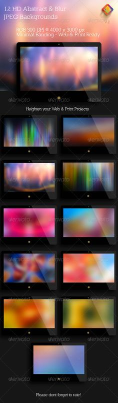 HD Abstract and Blur Backgrounds V.2