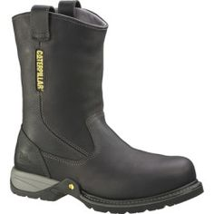 Cheap Caterpillar Mens Gladstone Steel Toe Pull-On Work Boots Black 8 price - This work boot provides ultimate comfort with iTechnology Energy Series a 2nd generation of iTechnology comfort that absorbs shock and returns...