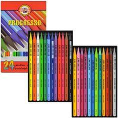 Lápis Integral Colorido Koh-I-Noor 24 cores www.frutodearte.com.br R$ 131,61 (20/04/2015)