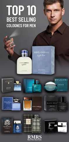 Summer is the perfect time to try a new scent – and there are some reliable favorites on the market that work like a charm for the majority of guys. Here are the top 10 best selling men's colognes you can't mess up. Best Perfume For Men, Best Fragrance For Men, Best Fragrances, Top 10 Men Perfume, Perfumes For Men, Man Perfume, Top Perfumes, Perfume Bottles, Top 10 Men's Cologne