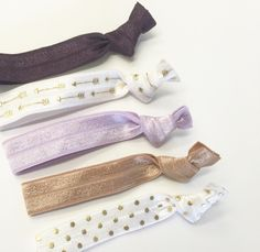 A personal favorite from my Etsy shop https://www.etsy.com/listing/481019871/plumneutral-hair-tie-setelastic-hair