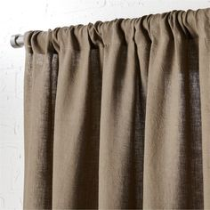 """taupe linen curtain panel 48""""""""x96"""""""""""