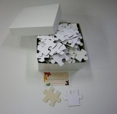 Blank White Puzzle Pieces for Unique by MissingPiecePuzzleCo, $28.00