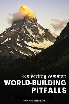 Combatting Common World-Building Pitfalls | Writing tips | writing advice #CherylProWriter Book Writing Tips, Writing Resources, Writing Help, Writing Prompts, Writing Corner, Persuasive Writing, Haruki Murakami Livres, George Orwell, Neil Gaiman