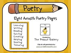 Acrostic poetry is a great way to get kids thinking about topics! These