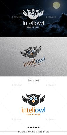 Owl Logo — Photoshop PSD #smart #funny • Available here → https://graphicriver.net/item/owl-logo/10542515?ref=pxcr