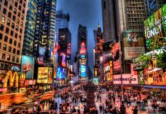 HDR Times Square, New York City - Tourists and Travelers Welcome ...