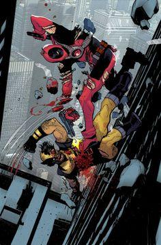 Wolverine vs Deadpool. Buds 4 lyf.