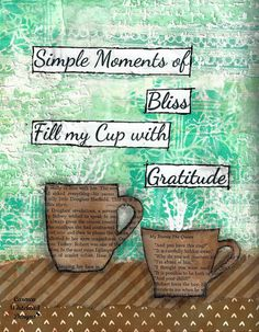 Simple Moments of Bliss Fill my Cup with by CarmenWDesigns on Etsy