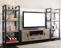 What do you think about this entertainment center? Could you picture it in your home?#LivingRoom #Style #Design