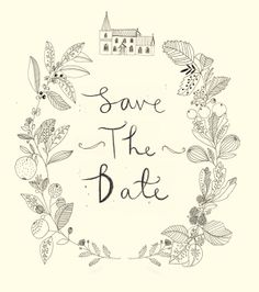 Wedding stationery. Save the date. Designed and illustrated by Ryn Frank www.rynfrank.co.uk