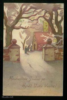 MARTTA WENDELIN Childrens Christmas, Christmas Art, Vintage Christmas, Xmas, Illustrations And Posters, Vintage Illustrations, Good Old Times, 23 November, Old Ones