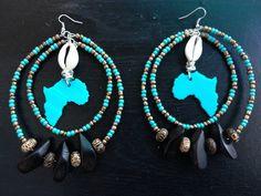 55d8e51c0 Handcrafted African Glass Charm Earrings find @ royalessence.storenvy.com  #africanjewelry #art #jewlery #handmadejewlery