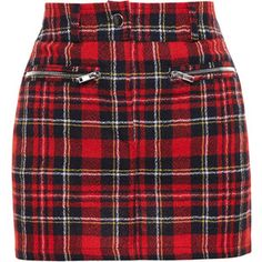 Filles A Papa Tartan Wool Mini Skirt