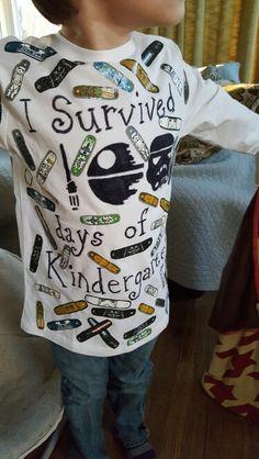 100 days school t-shirt star wars