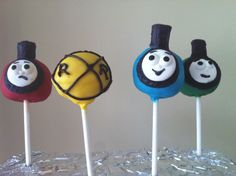 Thomas the Train Cake Pops - Little Cakes