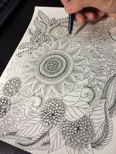 How to draw Botanical doodle zentangle #12