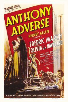 Anthony Adverse - 1936 Best Scoring (Warner Bros. Studio Music Dept.); Best Cinematography (Tony Gaudio); Best Film Editing (Ralph Dawson).