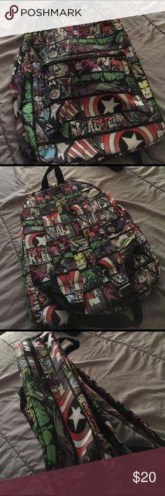 Nordstrom Marvel's comics Full size backpack 🎒 NWOT. Sorry 😐 no trades. 17 inches long, 11 inches wide , 5 inches deep. Thanks for looking. Have a nice day. Nordstrom Accessories Bags