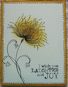 just doodling by lacyquilter - Cards and Paper Crafts at Splitcoaststampers watercolorcards Penny Black Cards, Paint Cards, Flower Doodles, Motif Floral, Flower Cards, Watercolor And Ink, Diy Cards, Doodle Art, Homemade Cards