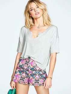Bright florals: fresh from festival to Friday night.  // Victoria's Secret High-rise Short