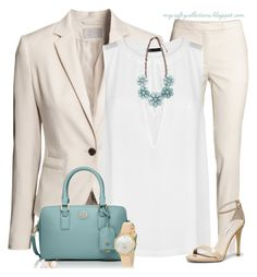 """Women's Outfit: Spring Business"" by angiejane ❤ liked on Polyvore featuring H&M, MANGO, Tory Burch, Steve Madden and Kate Spade"