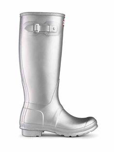 original metallic rain boots hunter boot ltd