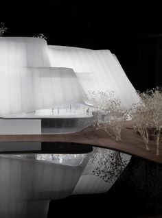 Image 13 of 22 from gallery of MAD Architects Unveils Design for Translucent China Philharmonic Hall in Beijing. Photograph by MAD Architects Facade Architecture, Amazing Architecture, Chinese Courtyard, Metal Cladding, Public Space Design, New China, Cities In Europe, Concert Hall, Beijing