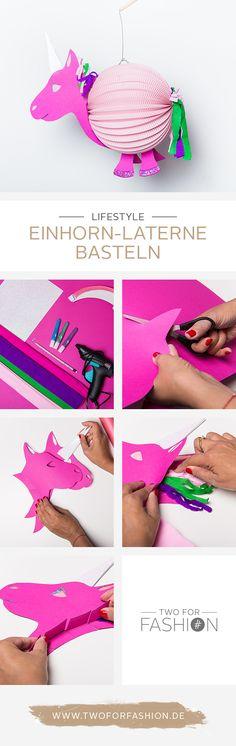 #diy #einhorn #laternen #herbstzeit #lampions #bastelnmitkindern #pink  Diese magische Einhorn-Laterne könnt ihr mit oder für eure Kids basteln. Das ist mit unserer Schablone, die ihr euch auf dem Blog downloaden könnt ganz leicht umzusetzen.
