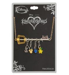 Lead a charmed life // Disney Kingdom Hearts Keyblade Charm Necklace Kingdom Hearts Necklace, Kingdom Hearts Keyblade, Disney Kingdom Hearts, Heart Jewelry, Cute Jewelry, Disney Jewelry, Disney Necklace, Headpiece Jewelry, Kawaii Accessories