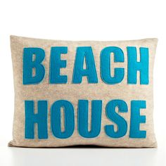 Look what I found on Etsy @toneitup !!! Thought you girls would love it!! BEACH HOUSE 14 x 18 Recycled Felt Applique by alexandraferguson, $99.00