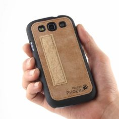 Golden Phoenix Samsung Galaxy S3 Handyhuelle Royal Wallet-Case Wildleder hellbraun Backcover