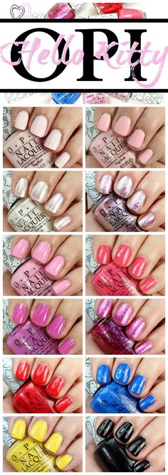 OPI Hello Kitty Nail Polish Collection Swatches + Review