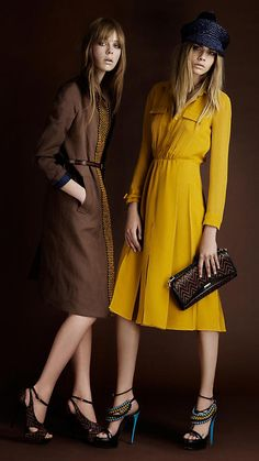 I'll also have this yellow dress and navy hat :) :) :)    <3 B U R B E R R Y