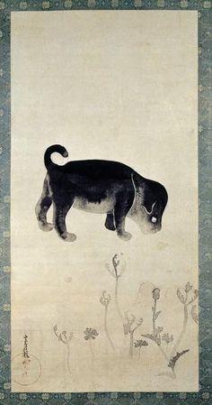 MIHO MUSEUM. Puppy scroll. Tawaraya Sotatsu?