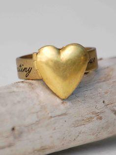 Valentine Heart Locket RING Romantic