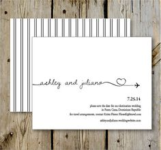 Destination Wedding Save the Date Print by TenpennyCreative, $20.00