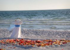 Our Gulf Beach Package has a heart of petals in the sand