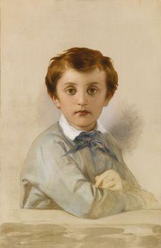 Paul Delaroche, Portrait of Philippe-Grégoire Delaroche, Son of the artist, 1851